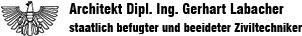 Architekt Dipl. - Ing. Gerhart Labacher - Logo